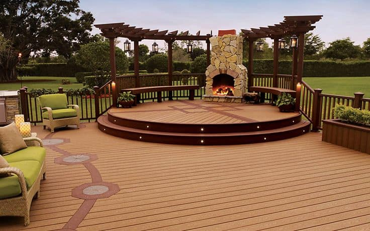 Trex decking outdoor seating